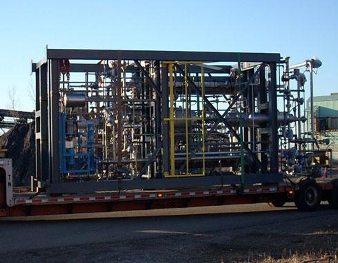 Cellulosic Ethanol modular system in transit