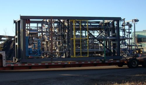 Cellulosic Ethanol modular system in transit