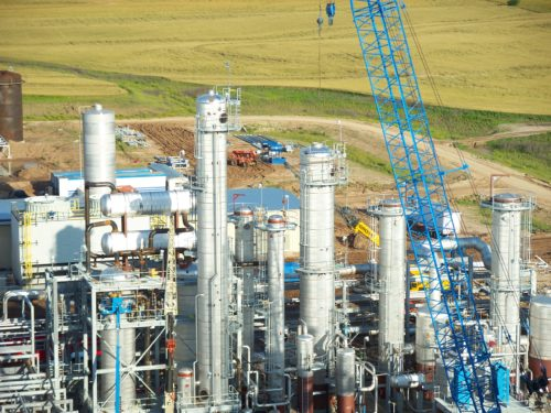 fuel ethanol plant from overhead