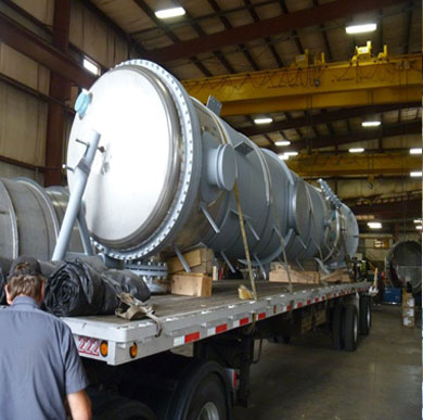 fuel ethanol plant equipment in transit