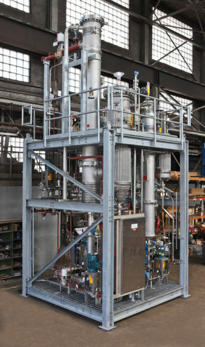 evaporation equipment inside warehouse