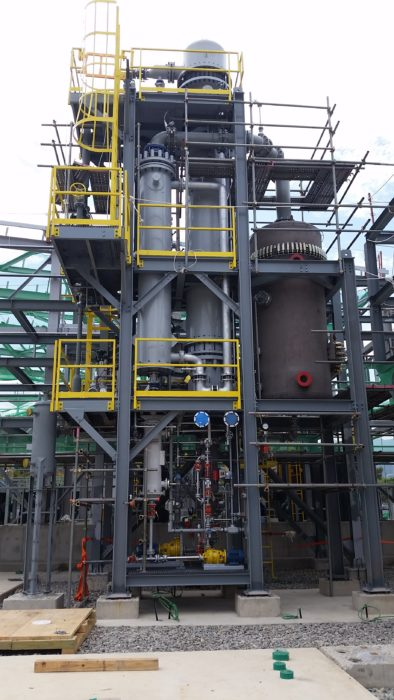 Modular system at a chemical plant