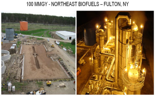 Northeast biofuels brewery retrofit before and after photos from Fulton New York