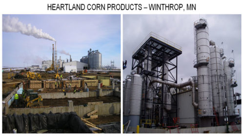 Heartland Corn Products plant before and after photos in Winthrop Minnesota